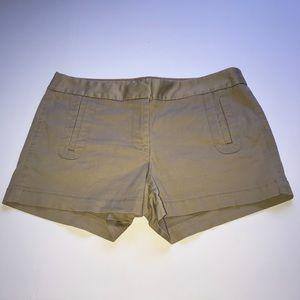 J.Crew khaki shorts with pockets